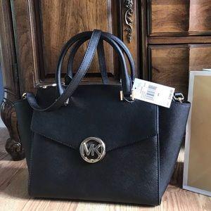 New $398 Michael Kors Hudson MD Satchel MK Handbag